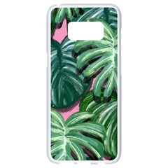 Painting Leaves Tropical Jungle Samsung Galaxy S8 White Seamless Case