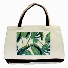 Plants Leaves Tropical Nature Basic Tote Bag