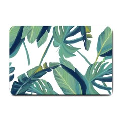 Plants Leaves Tropical Nature Small Doormat  by Alisyart
