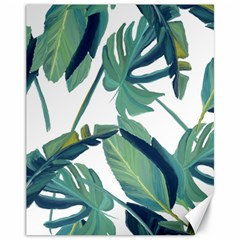Plants Leaves Tropical Nature Canvas 11  X 14  by Alisyart
