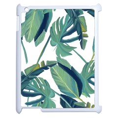 Plants Leaves Tropical Nature Apple Ipad 2 Case (white) by Alisyart