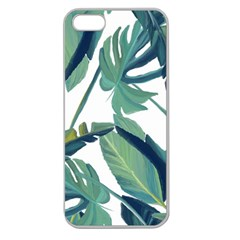 Plants Leaves Tropical Nature Apple Seamless Iphone 5 Case (clear) by Alisyart