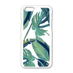 Plants Leaves Tropical Nature Apple Iphone 6/6s White Enamel Case