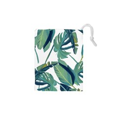 Plants Leaves Tropical Nature Drawstring Pouch (xs) by Alisyart