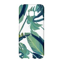 Plants Leaves Tropical Nature Samsung Galaxy S8 Hardshell Case  by Alisyart