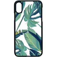 Plants Leaves Tropical Nature Apple Iphone X Seamless Case (black) by Alisyart