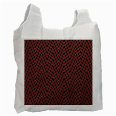 Pattern Chevron Black Red Recycle Bag (one Side)