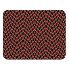 Pattern Chevron Black Red Double Sided Flano Blanket (large)