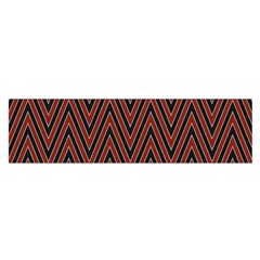 Pattern Chevron Black Red Satin Scarf (oblong) by Alisyart