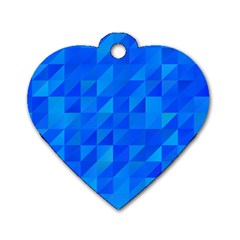 Pattern Halftone Geometric Dog Tag Heart (one Side)