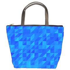 Pattern Halftone Geometric Bucket Bag by Alisyart