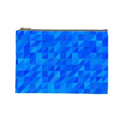 Pattern Halftone Geometric Cosmetic Bag (large)