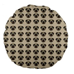 Puppy Dog Pug Large 18  Premium Round Cushions