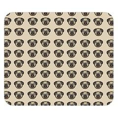 Puppy Dog Pug Double Sided Flano Blanket (small)  by Alisyart