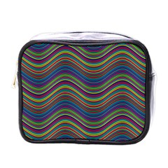 Ornamental Line Abstract Mini Toiletries Bag (one Side)
