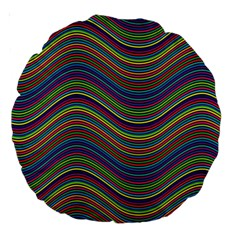 Ornamental Line Abstract Large 18  Premium Round Cushions by Alisyart