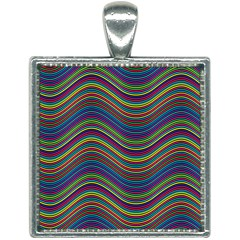 Ornamental Line Abstract Square Necklace by Alisyart