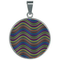 Ornamental Line Abstract 30mm Round Necklace by Alisyart