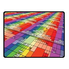Perspective Background Color Fleece Blanket (small) by Alisyart
