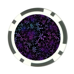 Retro Flower Pattern Fllower Poker Chip Card Guard