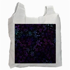 Retro Flower Pattern Fllower Recycle Bag (one Side)