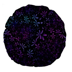 Retro Flower Pattern Fllower Large 18  Premium Round Cushions