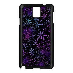Retro Flower Pattern Fllower Samsung Galaxy Note 3 N9005 Case (black)