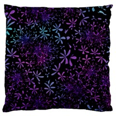 Retro Flower Pattern Fllower Large Flano Cushion Case (two Sides)