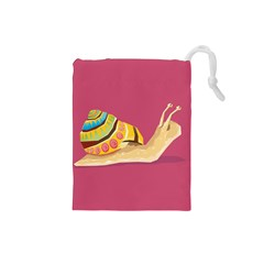 Snail Color Nature Animal Drawstring Pouch (small) by Alisyart