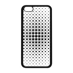 Square Center Pattern Background Apple Iphone 5c Seamless Case (black)