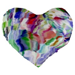 Crazy Colors  12 Large 19  Premium Flano Heart Shape Cushions by MoreColorsinLife