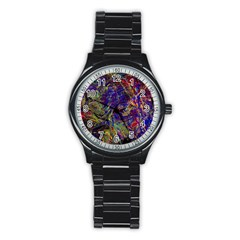 Crazy Colors  11 Stainless Steel Round Watch by MoreColorsinLife