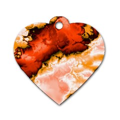 Winter Fractal 6 Dog Tag Heart (one Side)