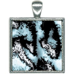 Winter Fractal 4 Square Necklace