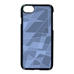 Lines Shapes Pattern Web Creative Apple Iphone 8 Seamless Case (black) by Pakrebo