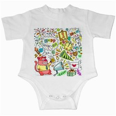 Doodle New Year Party Celebration Infant Creepers