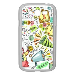 Doodle New Year Party Celebration Samsung Galaxy Grand Duos I9082 Case (white)