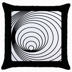 Spiral Line Throw Pillow Case (black) by Jojostore