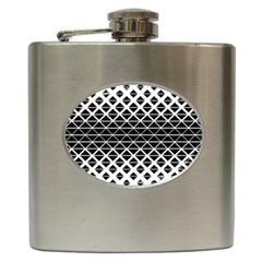 Triangle Black Hip Flask (6 Oz)