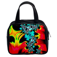 Fractal Mandelbrot Art Wallpaper Classic Handbag (two Sides)