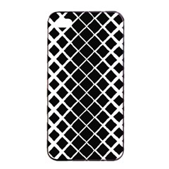Square Diagonal Pattern Black Apple Iphone 4/4s Seamless Case (black)