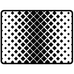 Square Diagonal Pattern Black Double Sided Fleece Blanket (large)