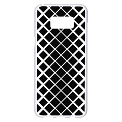 Square Diagonal Pattern Black Samsung Galaxy S8 Plus White Seamless Case by Jojostore