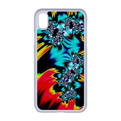 Fractal Mandelbrot Art Wallpaper Apple Iphone Xr Seamless Case (white)