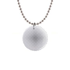 Star Curved Pattern 1  Button Necklace