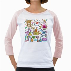 Baby Equipment Child Sketch Hand Girly Raglan