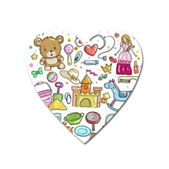 Baby Equipment Child Sketch Hand Heart Magnet by Pakrebo
