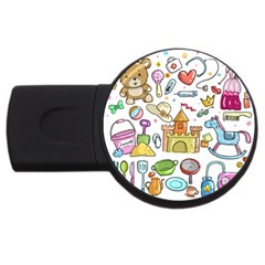 Baby Equipment Child Sketch Hand Usb Flash Drive Round (2 Gb)