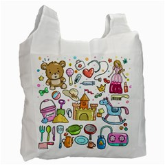 Baby Equipment Child Sketch Hand Recycle Bag (two Side) by Pakrebo