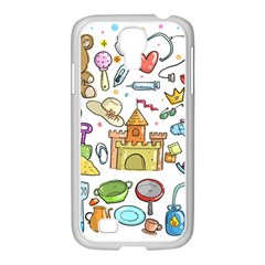 Baby Equipment Child Sketch Hand Samsung Galaxy S4 I9500/ I9505 Case (white)